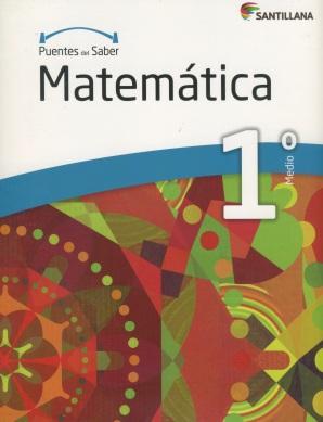 Matematica 1º Medio, serie Puentes del saber, Editorial Santillana