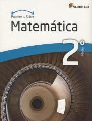 Portada del libro Matematica 2º Medio, serie Puentes del saber, Editorial Santillana
