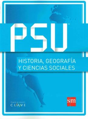 """Portada del Manual PSU Historia, Geografía y Ciencias Sociales, Proyecto de Evaluación """"Clave"""", Ediciones SM"""