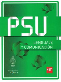"""Portada de Manual PSU Lenguaje y comunicación, Proyecto de Evaluación """"Clave"""", Ediciones SM"""